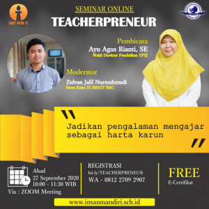 Seminar online Teacherpreneur
