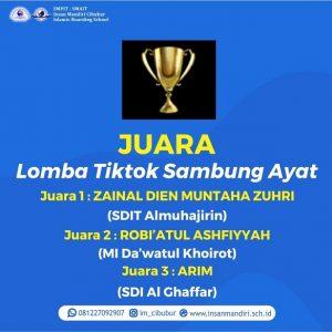 Read more about the article JUARA LOMBA TIKTOK SAMBUNG AYAT