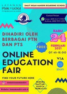 Read more about the article Online Education Fair SMAIT Insan Mandiri Cibubur